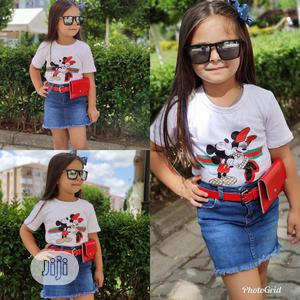 Mickey Mouse Jeans Skirt And Top | Children's Clothing for sale in Lagos State, Ojo