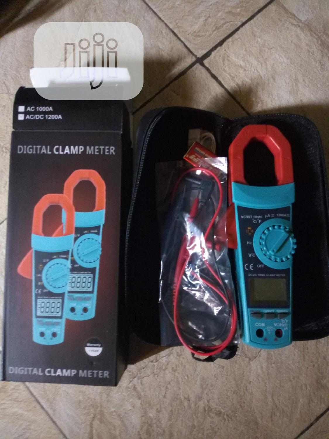 New AC-DC Clamp Meter With True RMS,600V Max, 1200A Max
