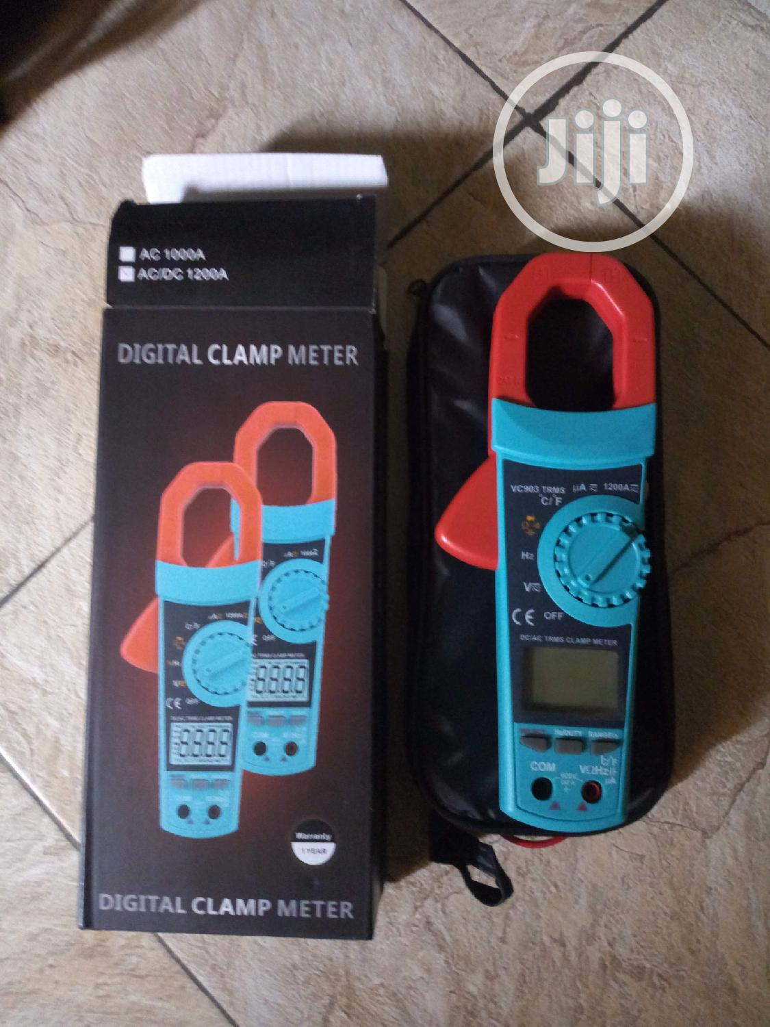 New AC-DC Clamp Meter With True RMS,600V Max, 1200A Max | Measuring & Layout Tools for sale in Ikeja, Lagos State, Nigeria