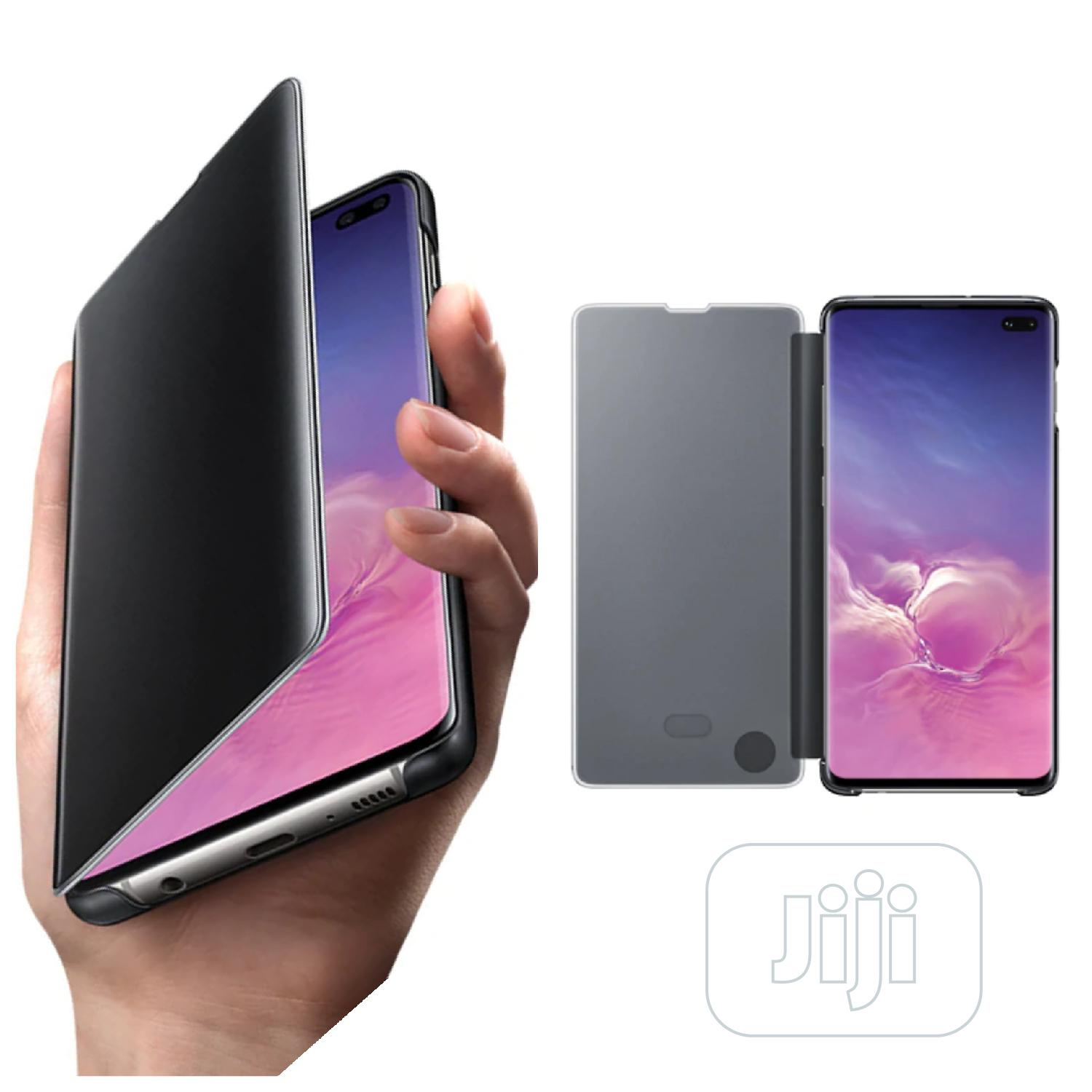 Galaxy S10+ Clear View Cover | Accessories for Mobile Phones & Tablets for sale in Ikeja, Lagos State, Nigeria