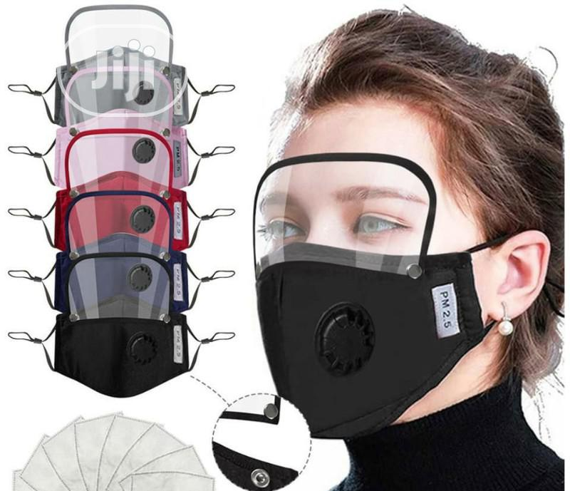 2in1 Nose Mask Plus Face Shield