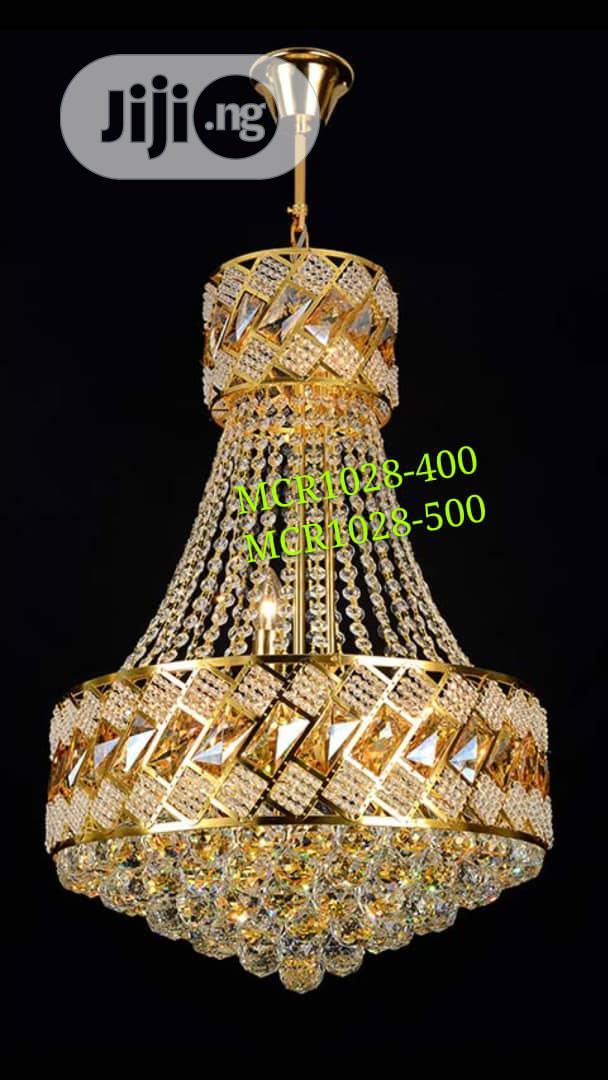 Crystal Chandler Light Gold