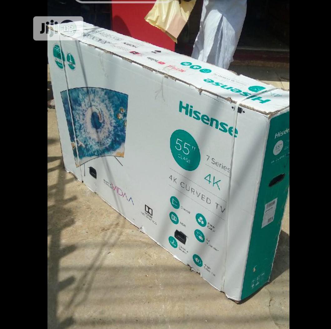 ✓Series 7 Hisense Curve 4K Smart Tv 55inchs