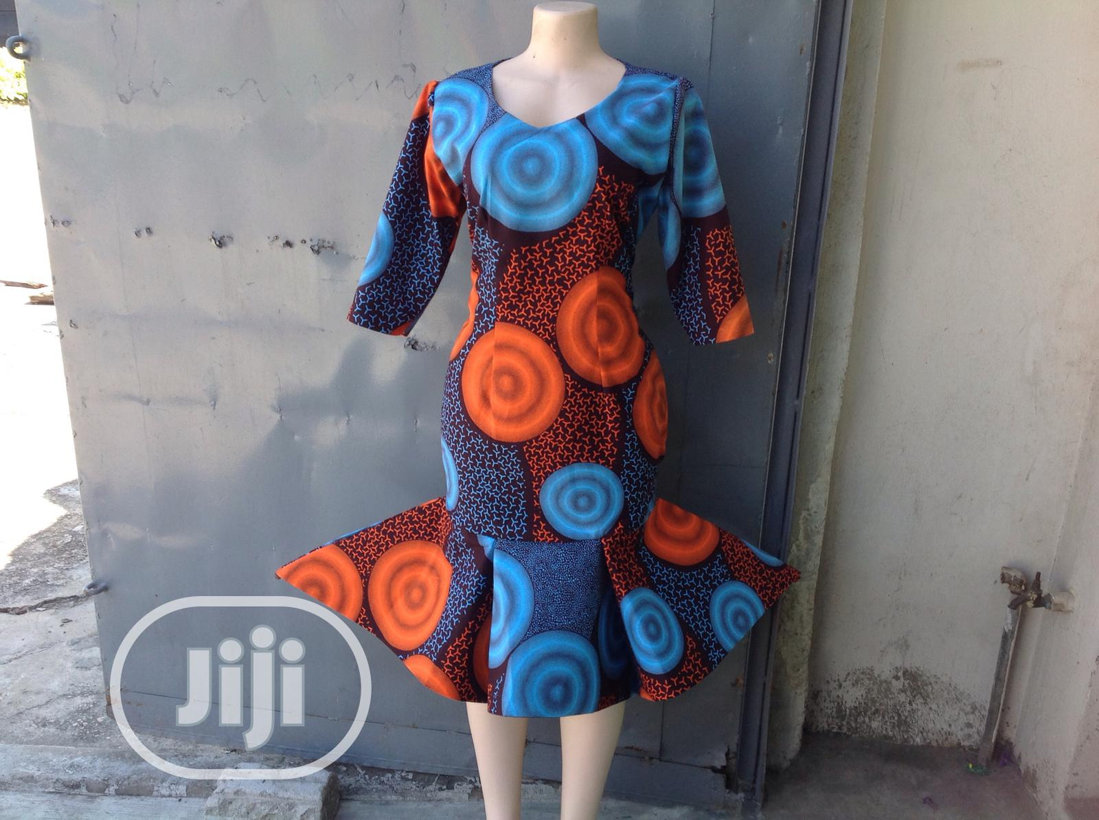 Beautiful Ankara Flare Dress | Clothing for sale in Ajah, Lagos State, Nigeria