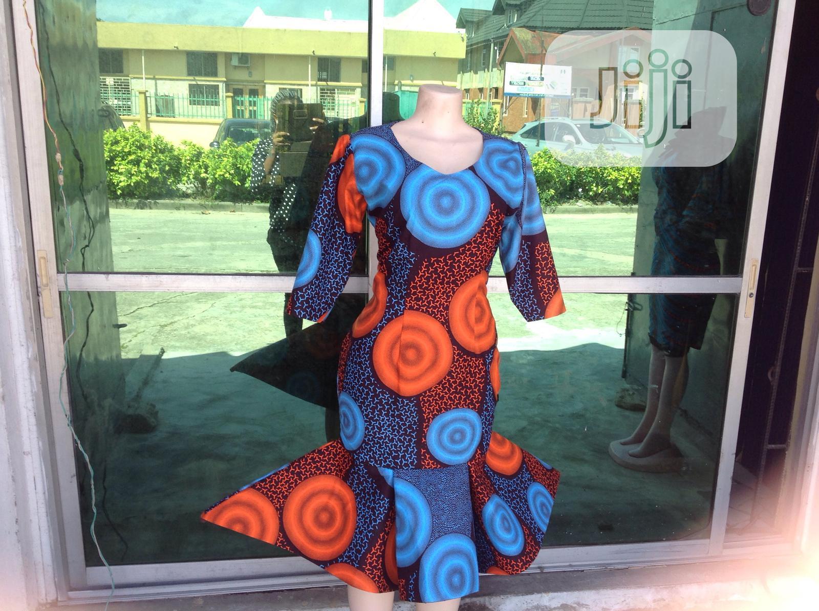 Beautiful Ankara Flare Dress