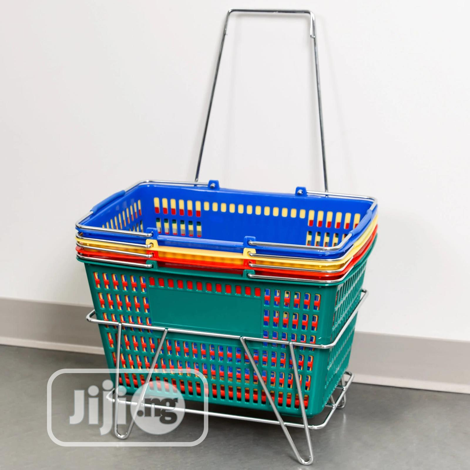 Off Shore Wire Handle Hand Plastic Shopping Basket | Store Equipment for sale in Ikoyi, Lagos State, Nigeria