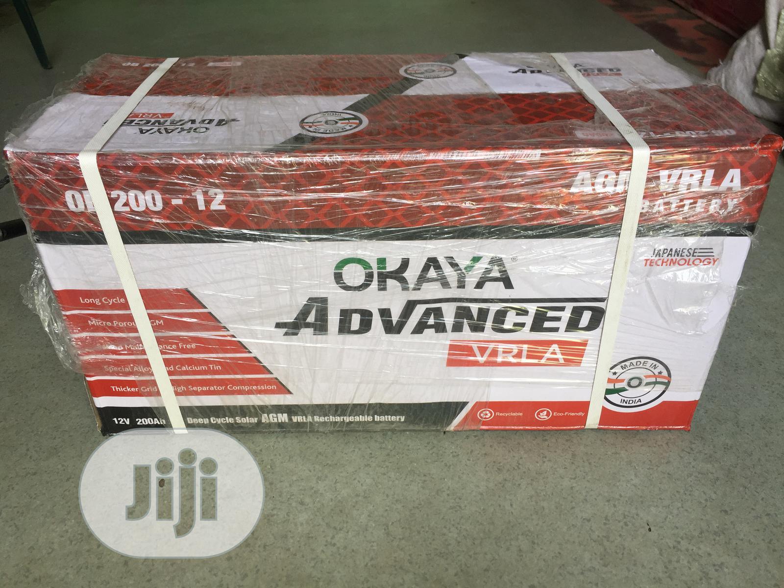 200ah 12V Okaya Indian Battery Advance Tech.