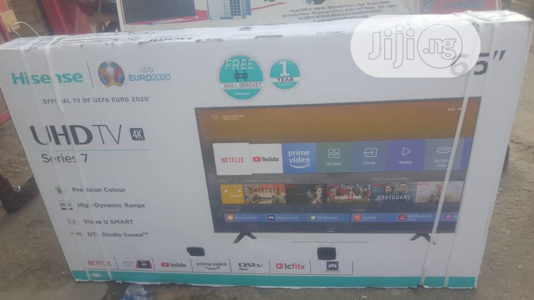 Hisense 65' Smart UHD 4K Led TV-65B7100 +Free Wall Bracket