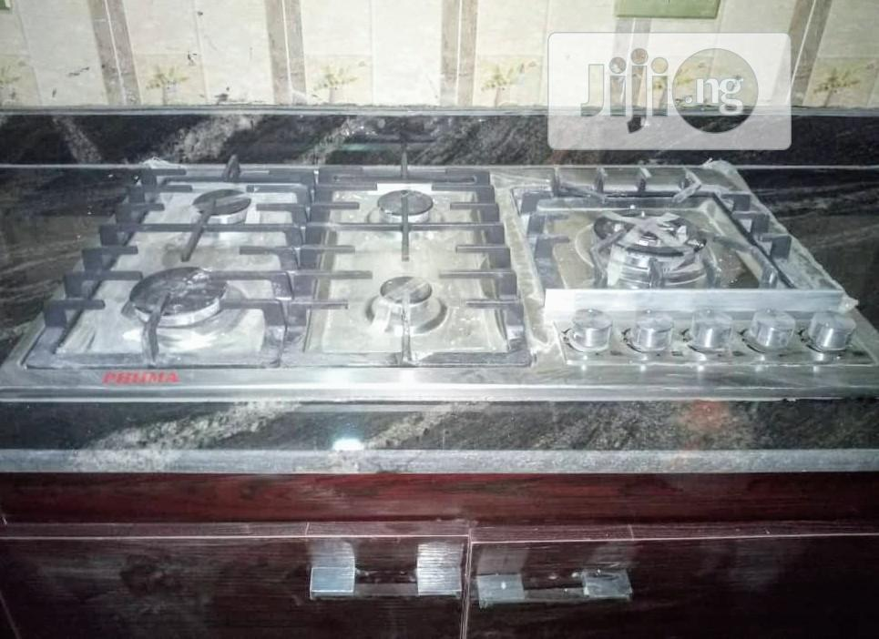 Phima Hob 5 Gas Burner Cabinet Auto Grill + 5 Years Warranty