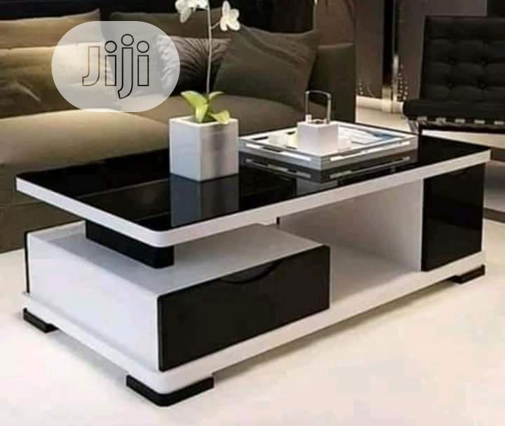 Dis Center Table Comes With Two Drawer Nd Glass on Top in ...