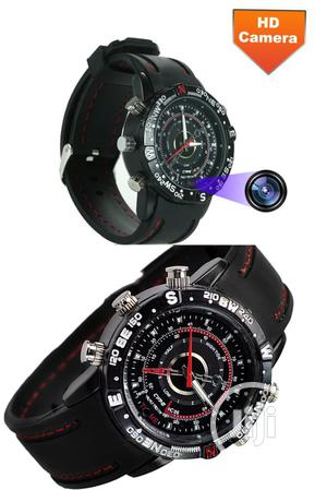HD Waterproof Unisex Spy Camera Wrist Watch For Multipurpose | Security & Surveillance for sale in Lagos State, Ikeja