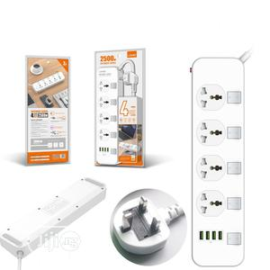 LDNIO 2meter Extension Cord With 4 Socket Outlets And 4 USB | Accessories & Supplies for Electronics for sale in Lagos State, Ikeja