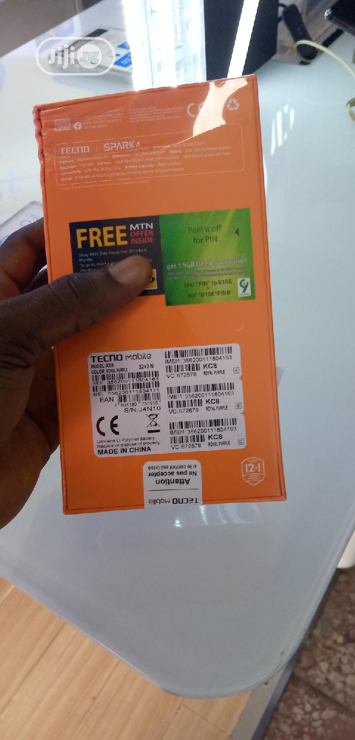 New Tecno Spark 4 32 GB Gray | Mobile Phones for sale in Surulere, Lagos State, Nigeria