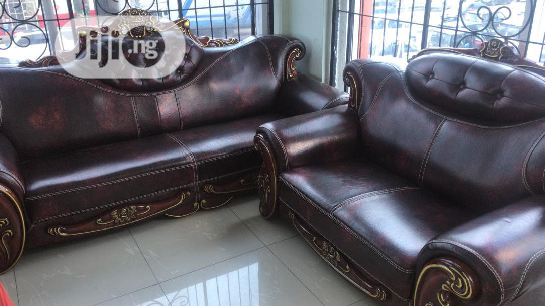 Royal Imported Sofa 7 Seater Leather Coffee Brown