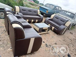 Sofa Chair With 7 Seaters And Center Table - Leather Couch | Furniture for sale in Lagos State, Ikeja