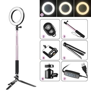 DC5V 5W 64 LED Ring Light Round Selfie Camera Lamp With Stan   Accessories & Supplies for Electronics for sale in Lagos State, Ajah