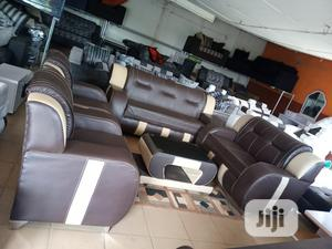 Full 7-Seater Sofa Chair With Centre Table - Leather Couch   Furniture for sale in Lagos State, Ikorodu