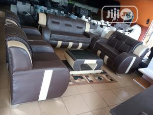 7 Seaters Sofa Chair And Centre Table - Leather Couch | Furniture for sale in Lagos State, Ojota