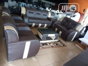 7-seater Sofa Set Of 3-2-1-1 Chairs, Table - Leather Couch | Furniture for sale in Lagos State, Oshodi