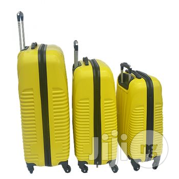 4 Wheel ABS Luggage (Yellow)