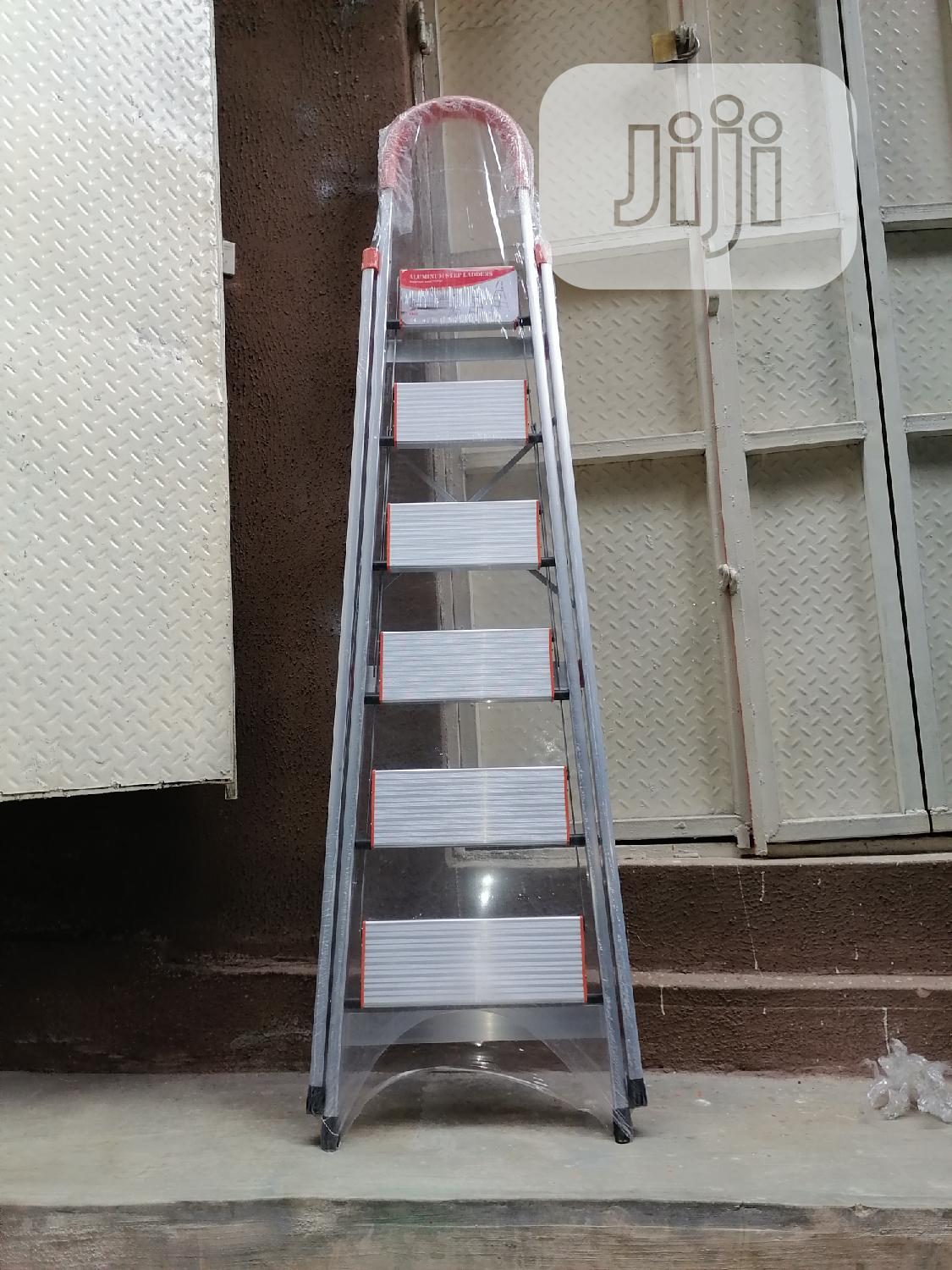 Wide Aluminum 6 Steps Ladder | Hand Tools for sale in Lagos Island (Eko), Lagos State, Nigeria