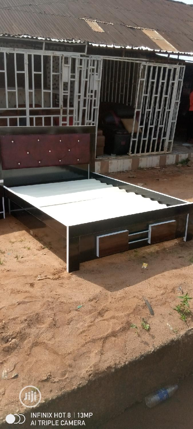 Quality Family Bed With One Bedside | Furniture for sale in Benin City, Edo State, Nigeria
