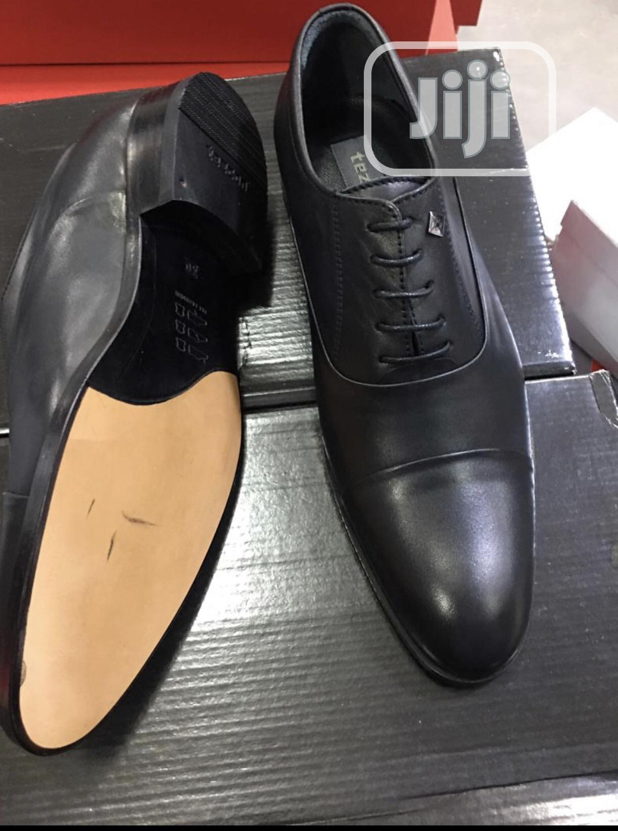 Tezcon Pure Italian Leather Oxford Lace Up Shoe for Men