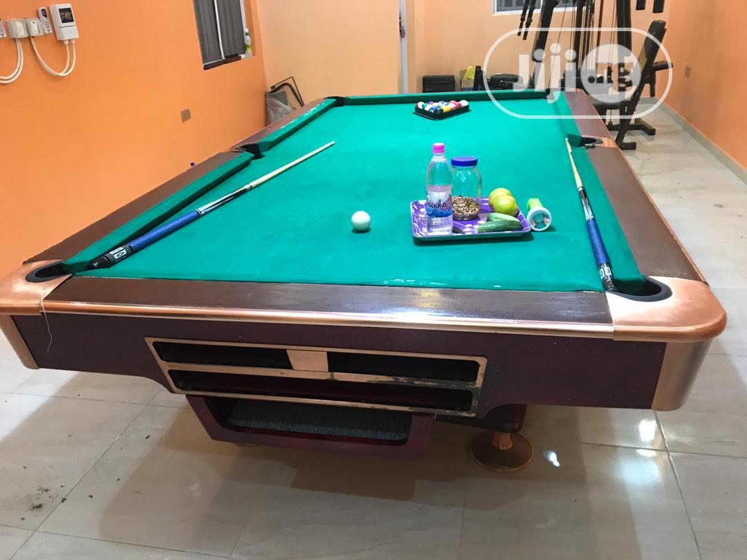 9ft Marble Snooker Table