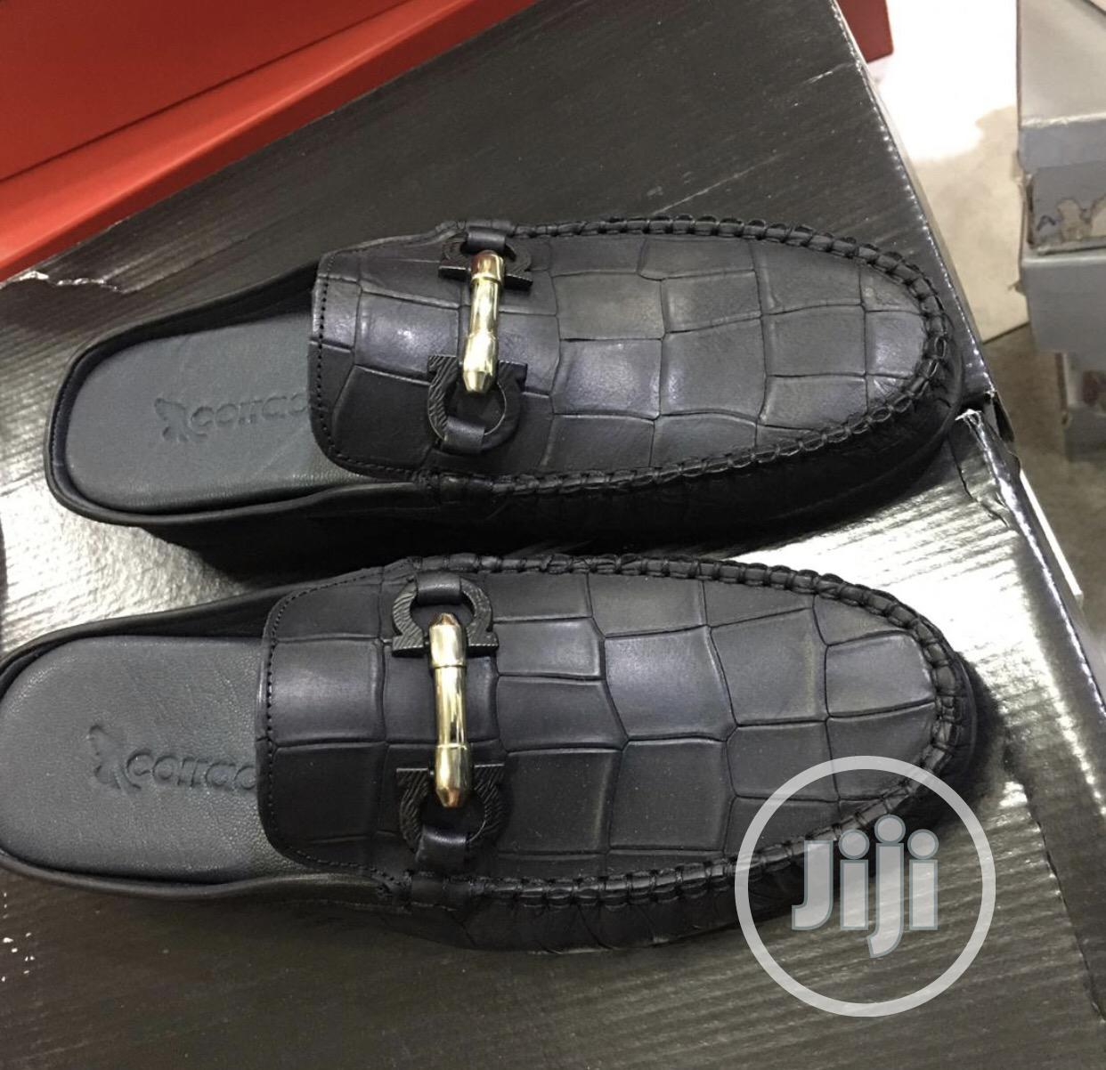 All Round Pure Italian Leather Half Shoe for Men