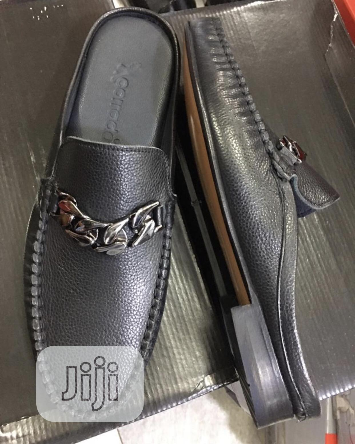 Pure Italian Leather Half Shoe for Men