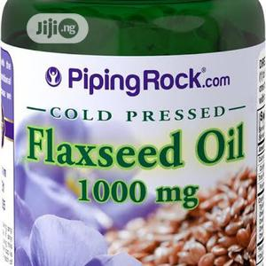 Original-Flaxseed Oil 1000mg Organic Omega Supplement   Vitamins & Supplements for sale in Lagos State, Ikoyi