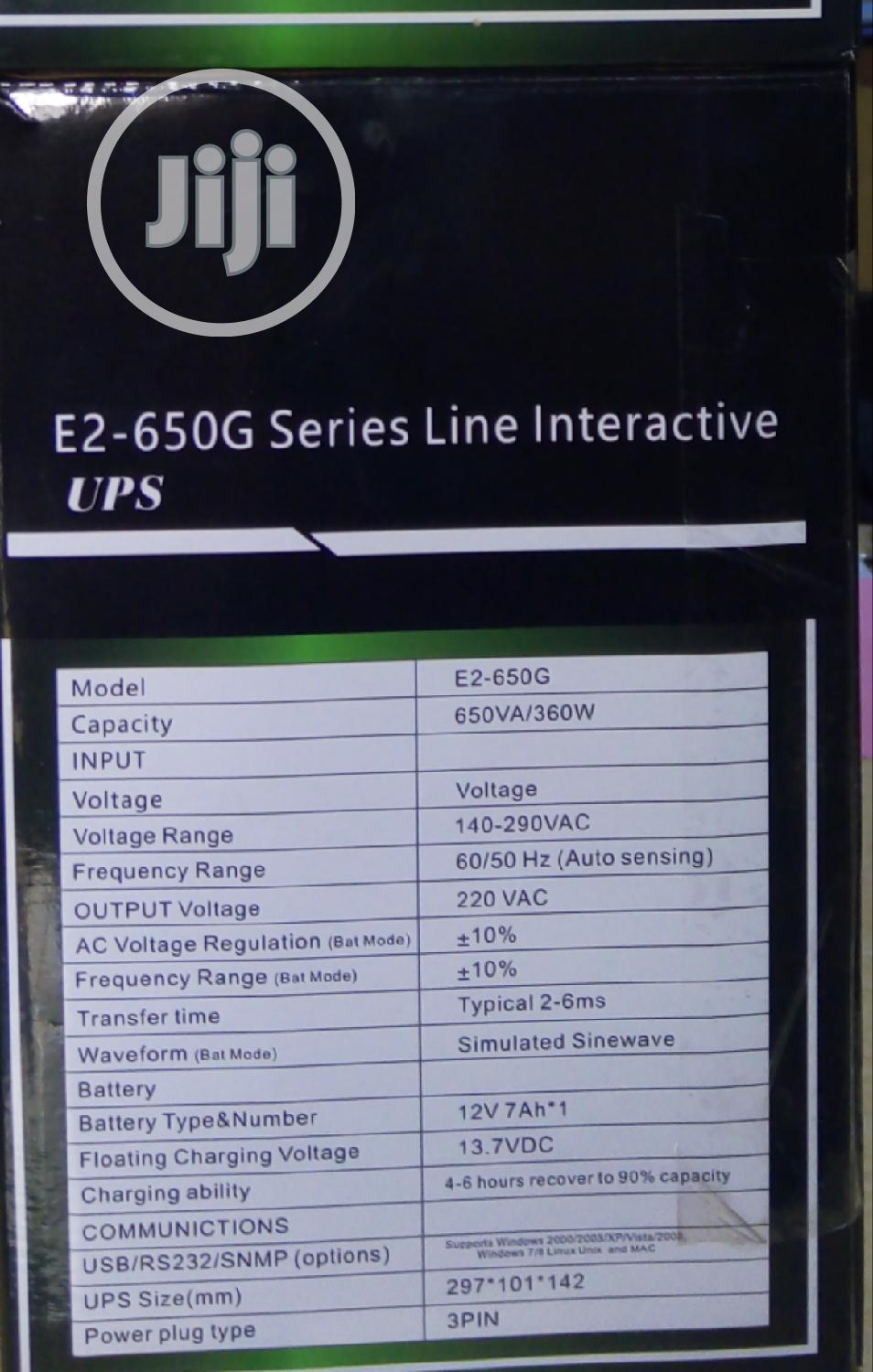 Vectronic Ups E2_650g | Computer Hardware for sale in Ikeja, Lagos State, Nigeria