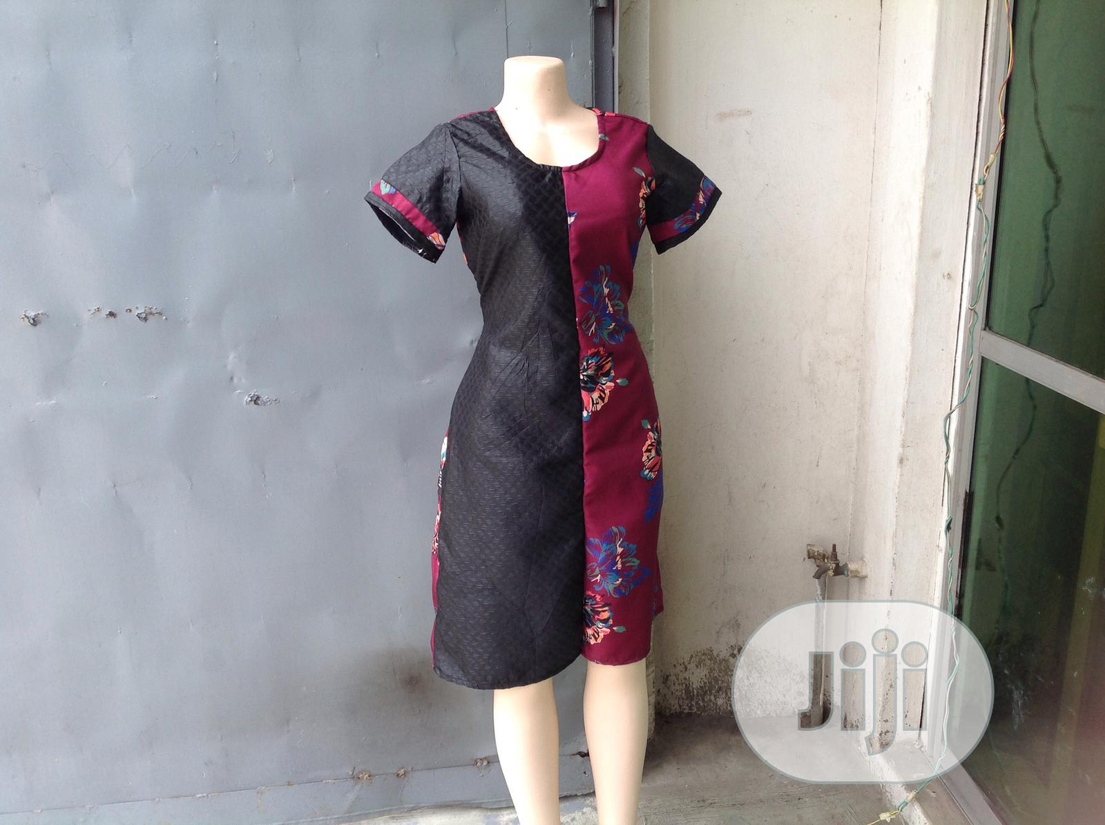 Black and Wine Dress | Clothing for sale in Ikeja, Lagos State, Nigeria
