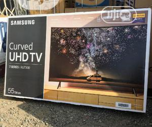 """2020"""" Samsung 55""""Curved UHD SMART Tv {RU7300} Series 7 +Wifi   TV & DVD Equipment for sale in Lagos State, Ojo"""