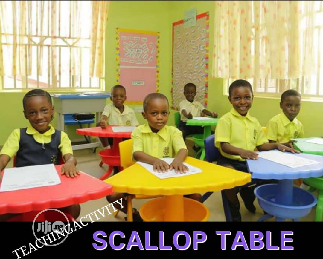 Scallop Tables And Chairs