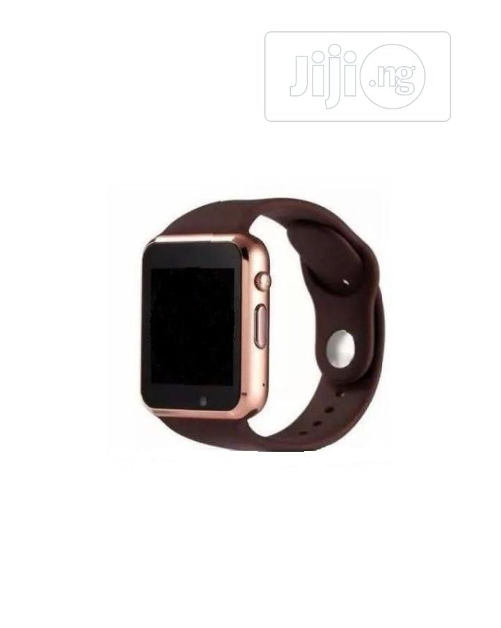 A1 Smartwatch With SIM Card & Memory Card Space-gold Brown