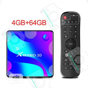 X88 Pro 10 TV Box – Android 10.0 – 4K TV Box (4G/64GB) | TV & DVD Equipment for sale in Lagos State, Ojo