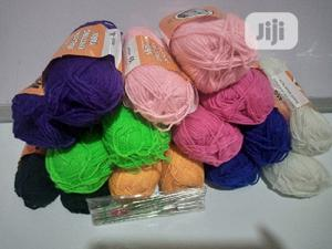 16 Pieces Colorful Knitting Yarn + 12 Crochet Pins   Arts & Crafts for sale in Lagos State, Ojodu