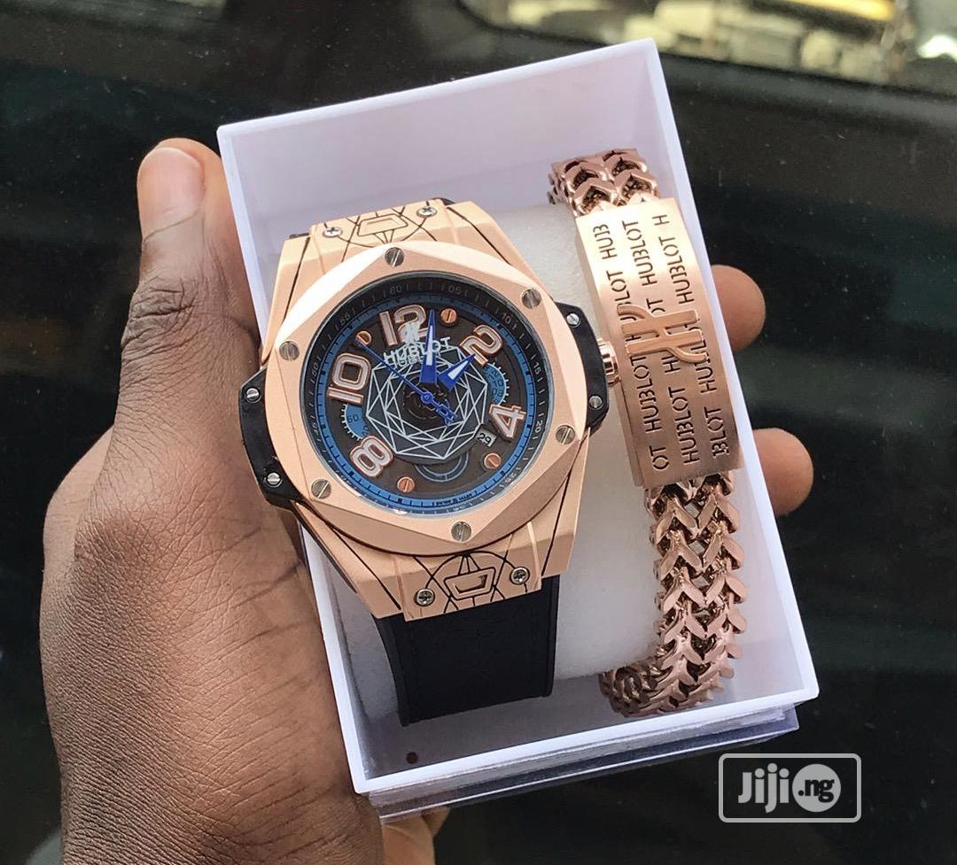 Luxury Unisex Hublot Watch With Free Bracelet