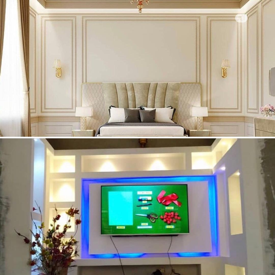 Best TV Walls Nigeria (With Warm Lights) | Furniture for sale in Maryland, Lagos State, Nigeria