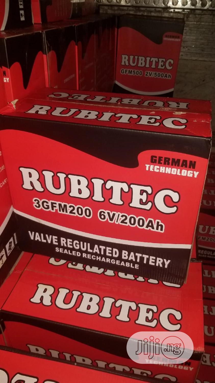 Archive: 6V 200ah Rubitec Battery