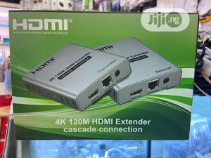 4K HDMI Extender Over (LAN) Ethernet Cable 120M | Accessories & Supplies for Electronics for sale in Rivers State, Port-Harcourt