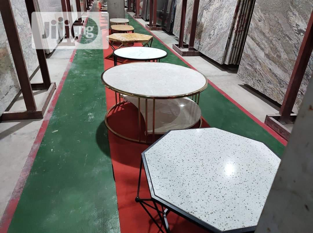 Center Table And Side Stool With Marbles And Granites   Other Services for sale in Gbagada, Lagos State, Nigeria