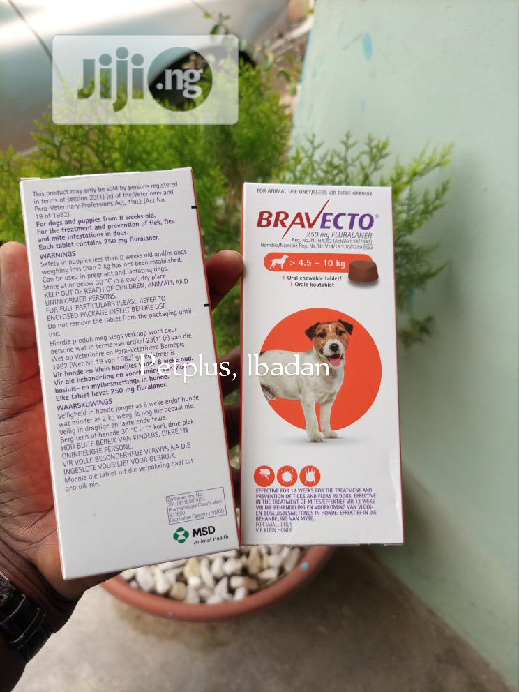 Bravecto Tick Tab 4.5-10kg | Pet's Accessories for sale in Ibadan, Oyo State, Nigeria
