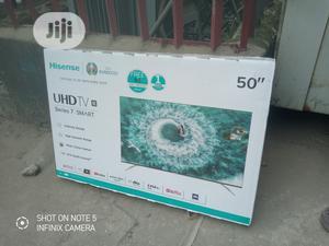 "''Hisense 50""Inch 4K Smart UHD Series 7{Netflix}Mira-Cast | TV & DVD Equipment for sale in Lagos State, Ojo"