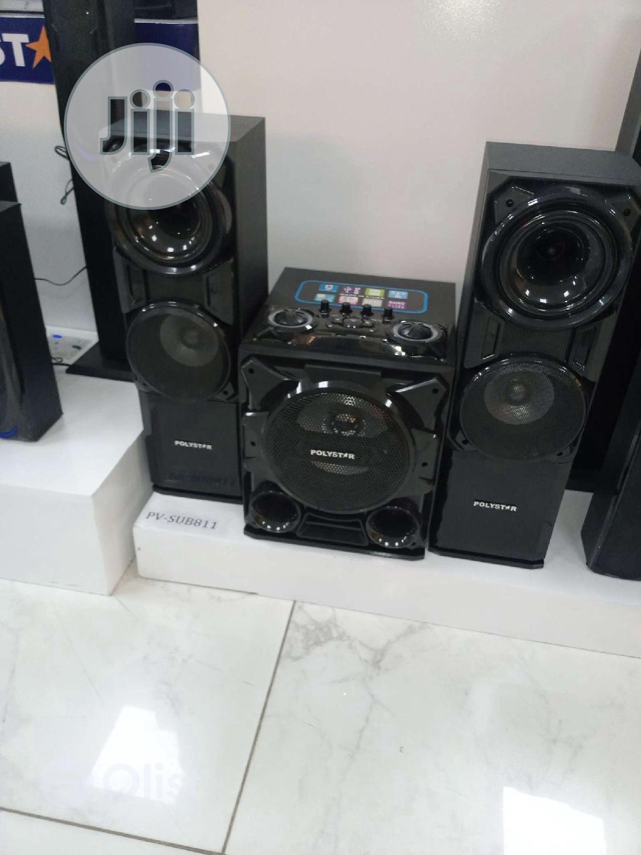 Polystar DVD Home Theater Sub811 Bass Blast 2500W Bluetooth