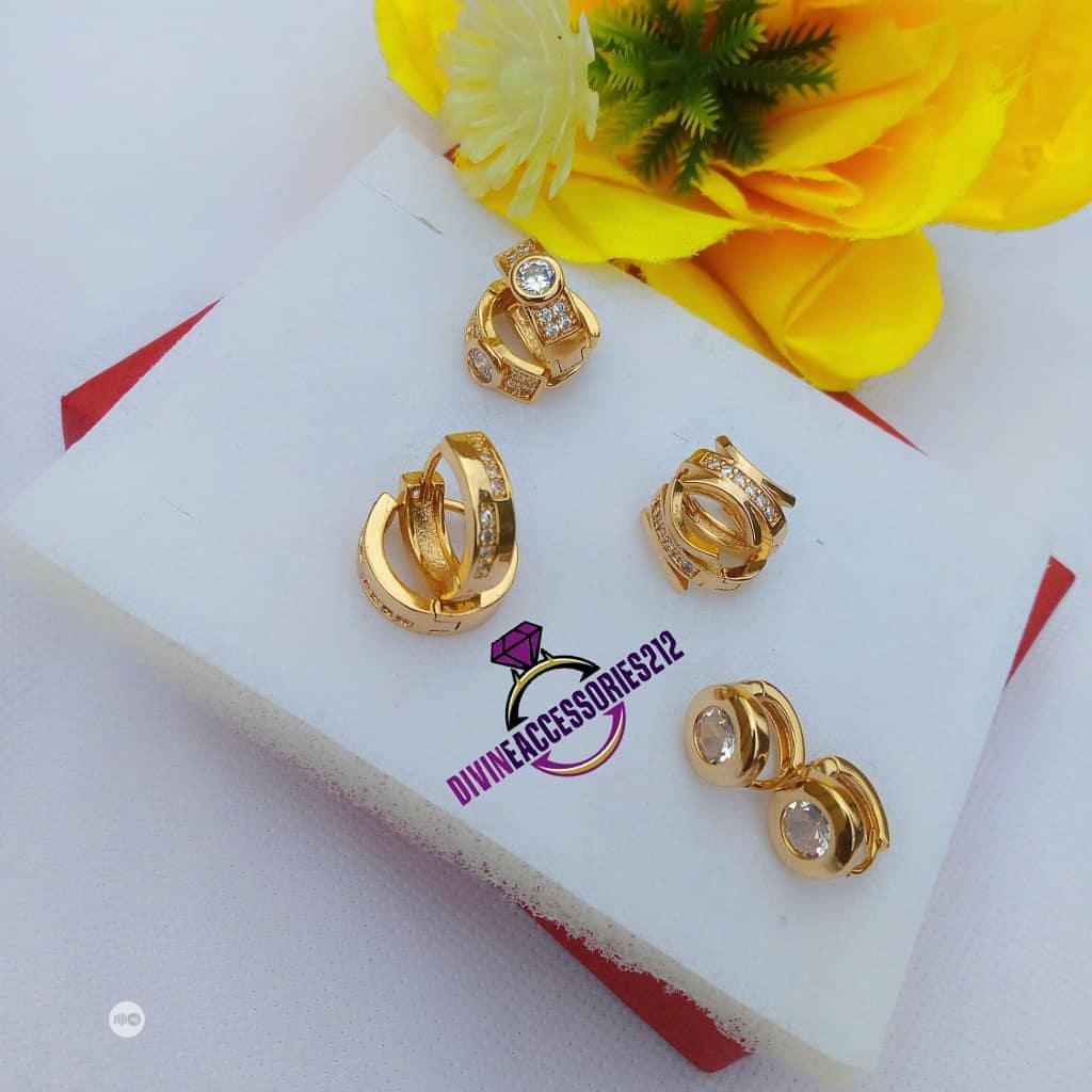 Romanian Clip Earrings With Gems 💎💎💎 | Jewelry for sale in Ibadan, Oyo State, Nigeria