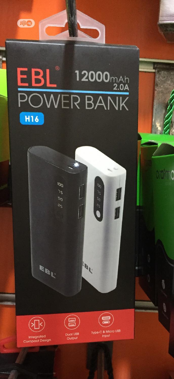 EBL H16 12000mah Powerbank