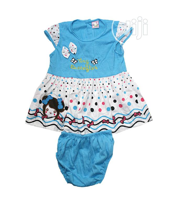 Baby Girl'S Two Pieces, Dress and Pant-Blue,Red,Orange,Pink