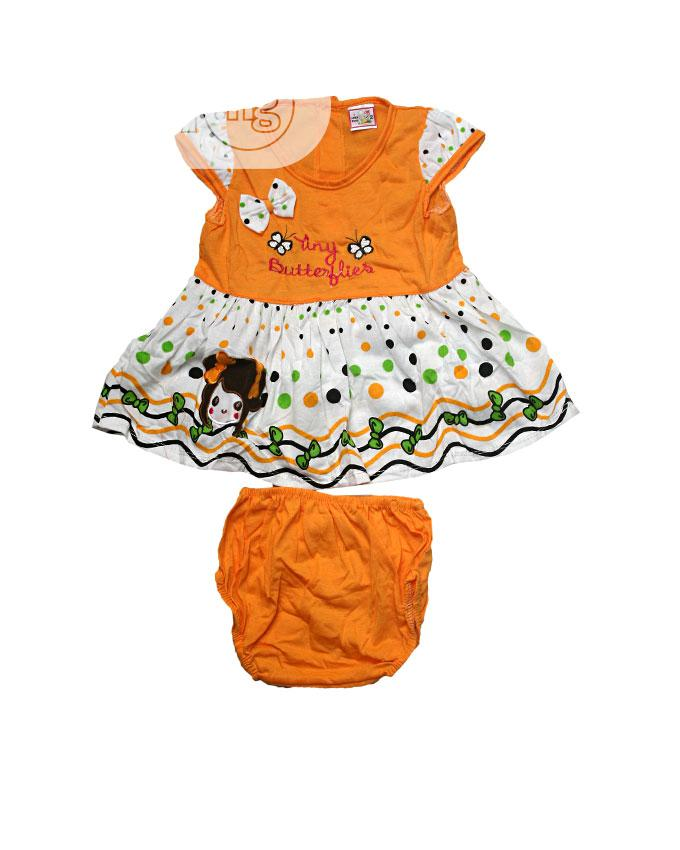 Baby Girl'S Two Pieces, Dress and Pant-Blue,Red,Orange,Pink | Children's Clothing for sale in Ojota, Lagos State, Nigeria